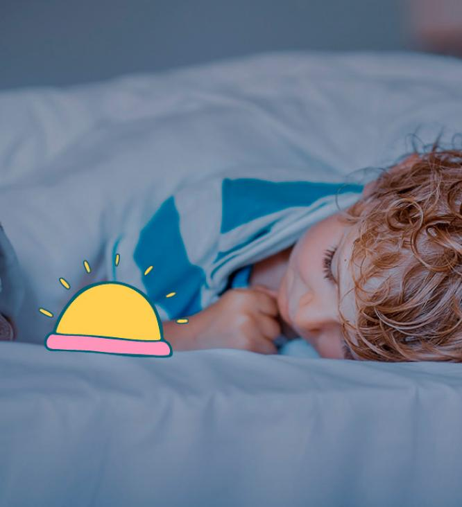 child sleeping with night light